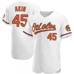 Men's Baltimore Orioles Keegan Akin White Home Jersey - Authentic