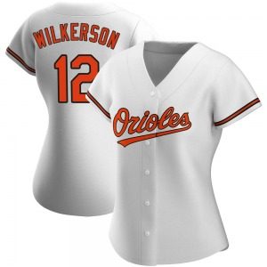 Women's Baltimore Orioles Steve Wilkerson White Home Jersey - Authentic