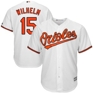 Men's Majestic Baltimore Orioles Hoyt Wilhelm White Cool Base Home Jersey - Authentic