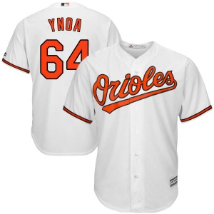 Men's Majestic Baltimore Orioles Gabriel Ynoa White Cool Base Home Jersey - Authentic