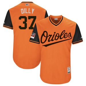 "Youth Majestic Baltimore Orioles Dylan Bundy Orange/Black ""DILLY"" 2018 Players' Weekend Flex Base Jersey - Authentic"