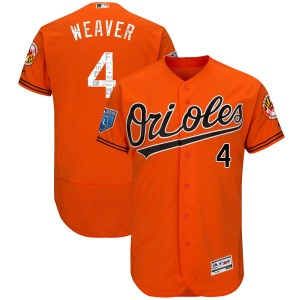 Youth Majestic Baltimore Orioles Earl Weaver Orange Flex Base 2018 Spring Training Jersey - Authentic