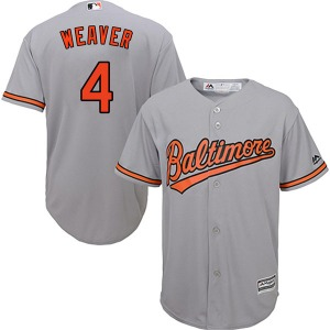 Youth Majestic Baltimore Orioles Earl Weaver Grey Cool Base Road Jersey - Authentic