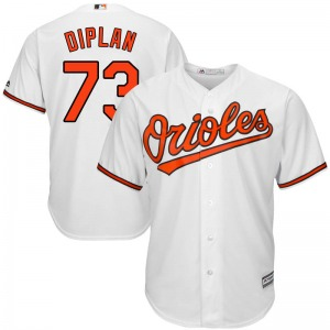 Youth Majestic Baltimore Orioles Marcos Diplan White Cool Base Home Jersey - Replica