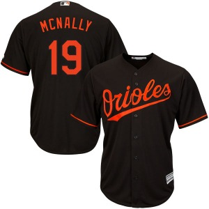 Youth Majestic Baltimore Orioles Dave Mcnally Black Cool Base Alternate Jersey - Authentic