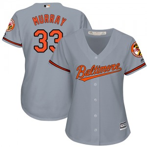 87b4cc980fb Women s Majestic Baltimore Orioles Eddie Murray Grey Road Cool Base Jersey  - Authentic